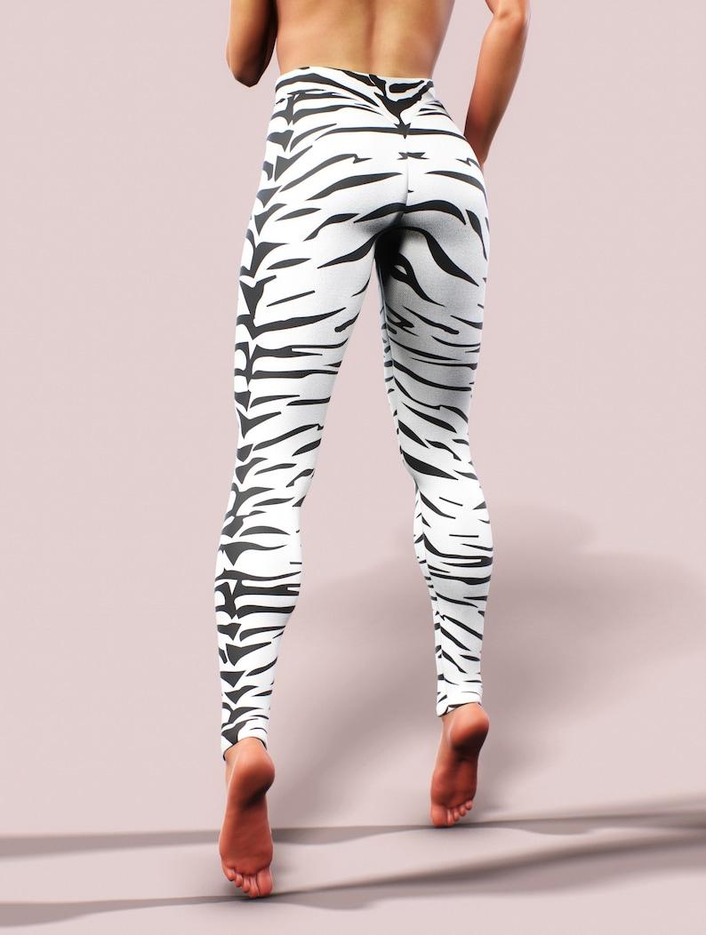 8d25531f4e7e Big Cat Stripes Yoga Pants Tiger Leggings Women Activewear | Etsy