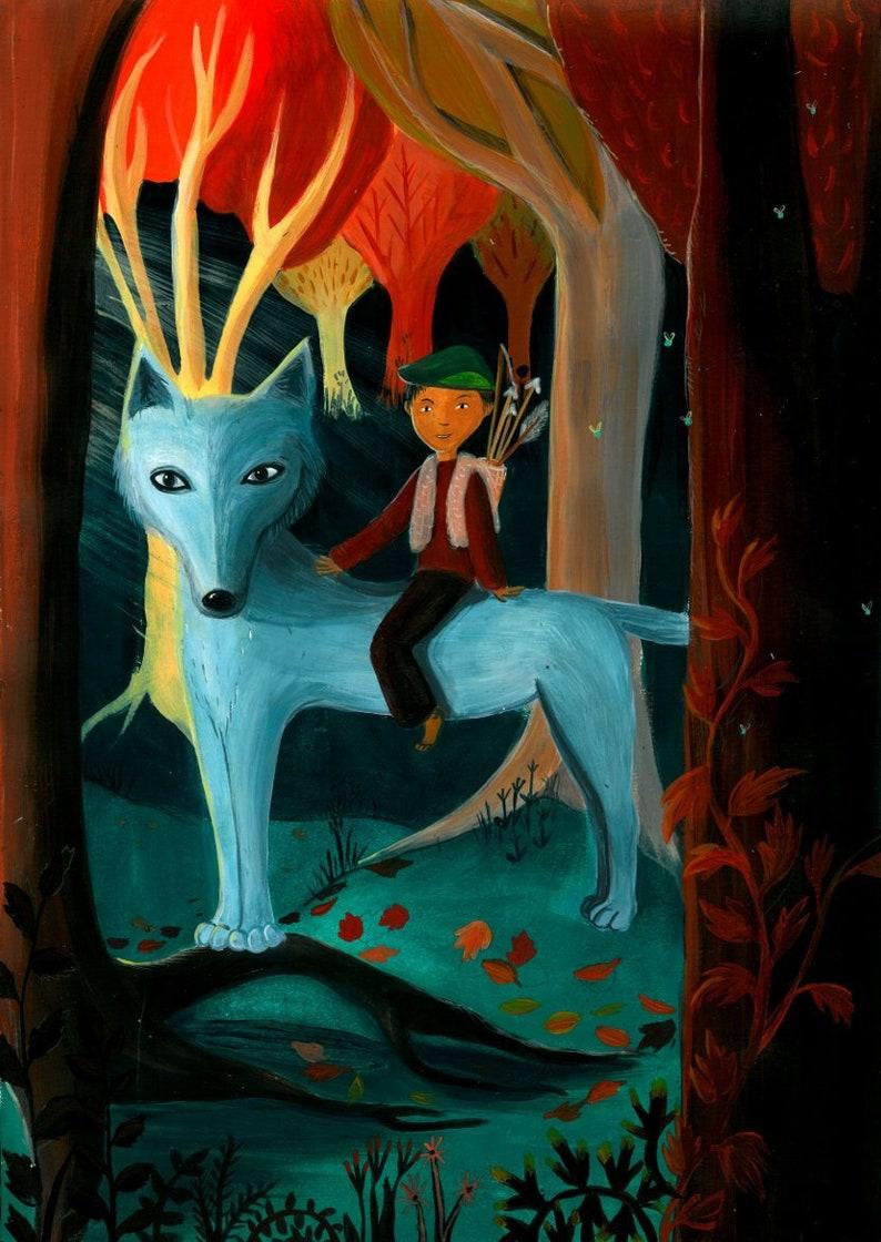 Illustration poster decoration children's room image 1