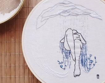 Embroidery •summer rain•