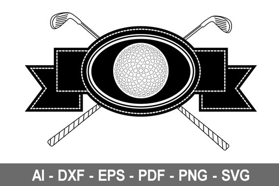 Golf Svg Golf Ball Svg Golf Ball Clipart Golf Ball Files Etsy