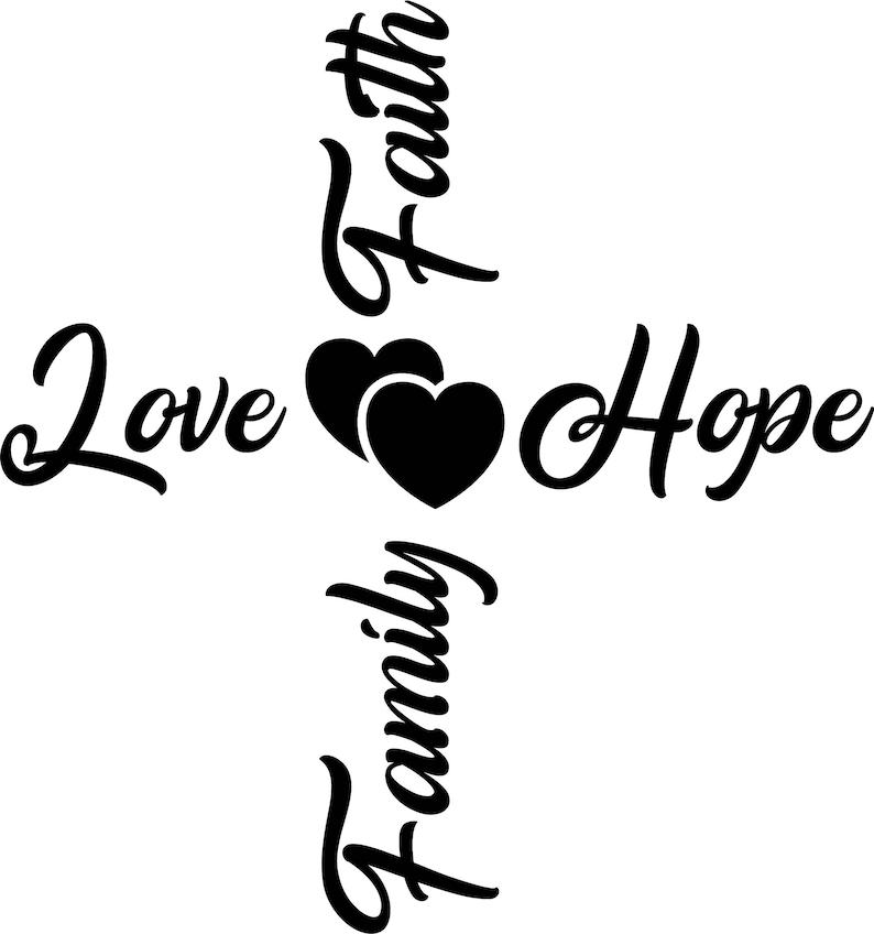 Download Faith Love Hope Family svg Love svg Christian cross svg | Etsy