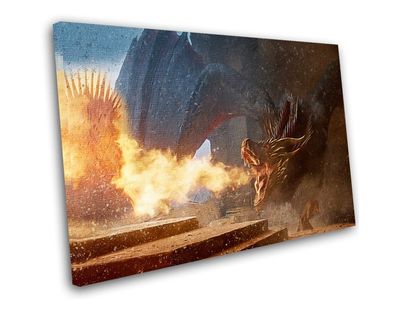 """Game Of Thrones Jon Snow 8x12/"""" Stretched Canvas Art Print"""