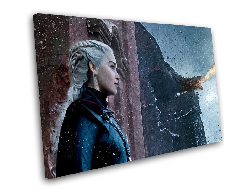"Game Of Thrones Daenerys 8x12/"" Stretched Canvas Art Print Quality"