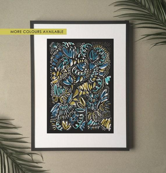 Art print, Modern print | Abstract print | Handpainted