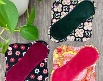 13 Cloth Menstural Pad Set w Pad Wrapper Heavy Absorbancy Mama Cloth RUMPs