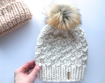 d541ee05672 Chunky Knit Winter Hat