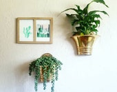 Brass Wall Pockets Pair Set of 2 Vintage Wall Hanging Planter Plant Pot