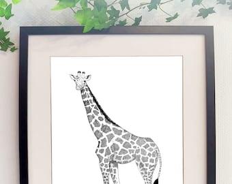 Giraffe poster print giraffe savannah africa africa cnv