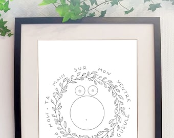 Show your hand on my pregnant belly print pregnant consent