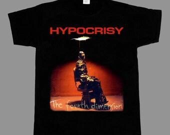 12883ab6d64 hypocrisy the fourth dimension short - long sleeve new black t-shirt