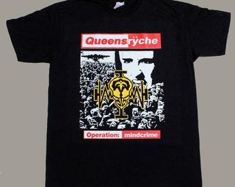234e3a7aafd queensryche operation mindcrime 88 progressive metal savatage new black t- shirt