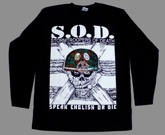 SOD STORMTROOPERS OF DEATH SOD NEW BLACK SHORT//LONG SLEEVE T-SHIRT S.O.D