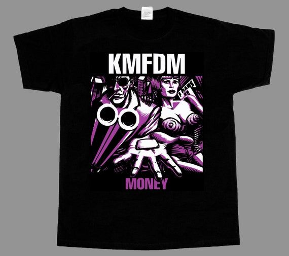KMFDM Money NEW BLACK SHORT//LONG SLEEVE T-SHIRT