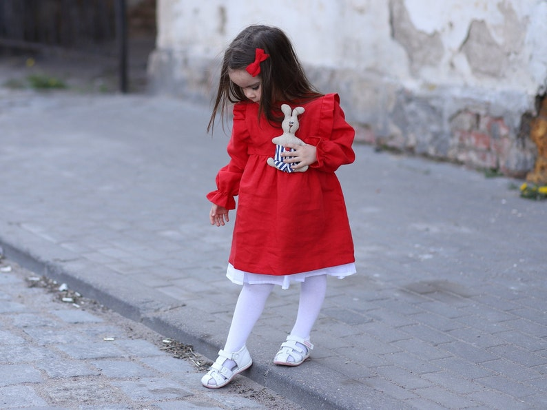 Girls christmas dress Christmas dress Girls christmas outfit Baby first christmas