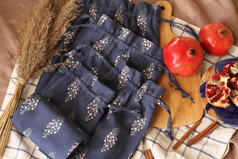 Reusable grocery bags Food storage bags Reusable storage bag Bread bags