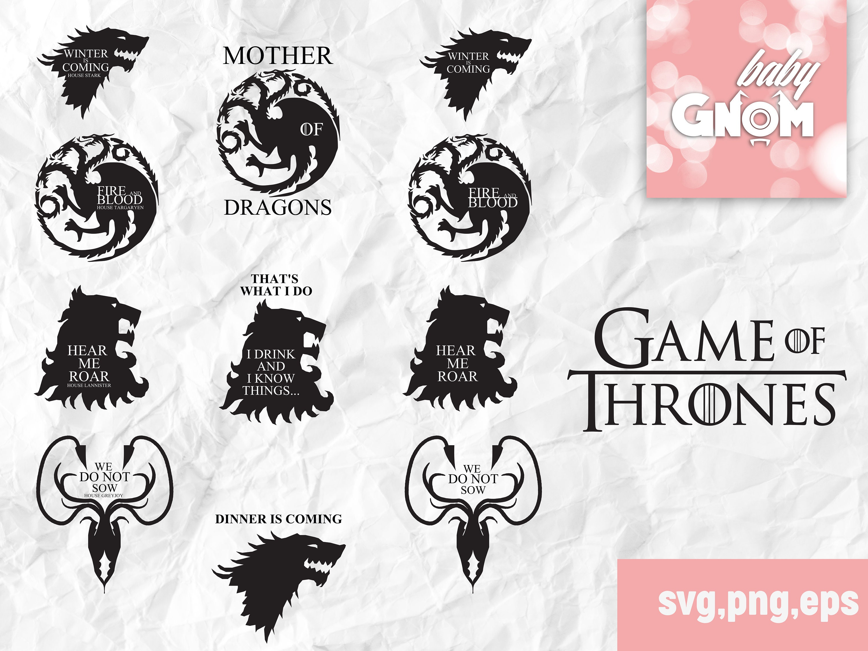 Game Of Thrones Logo Svg Got Logo Png Clipart Game Of Thrones Art Svg Png Dxf Eps