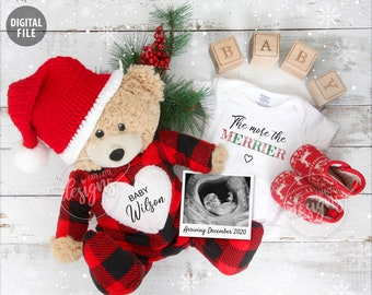 Pregnancy Baby Announcements Holiday By Cafelattedesigns On Etsy