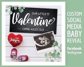 Pregnancy Announcement Valentines Day Etsy