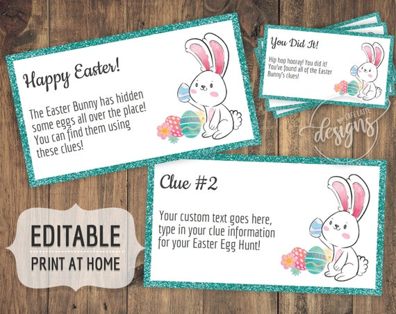 photo relating to Clue Cards Printable titled Easter Egg Hunt Clues, Editable Easter Scavenger Hunt Clue Playing cards, Printable Children Treasure Hunt Discount coupons, Grownup Easter Online games Immediate Down load