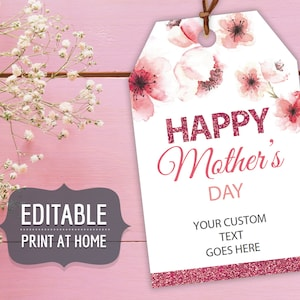 Customizable Print /& Cut Gift Tag Custom Tags XOXO Personalized Gift Tags Mother/'s Day Gift Tags
