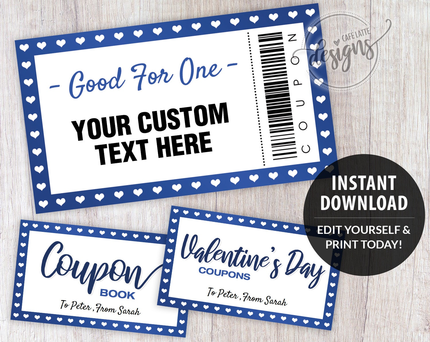 Coupon Template, Christmas Editable Coupons, Gifts for Kids Teens Custom  Personalized, Birthday Coupon Book, Printable Instant Download Inside Blank Coupon Template Printable