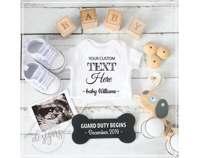 Dog Theme Baby Announcement Personalized Social Media Reveal Idea Facebook Instagram Pregnancy Announcement Mom /& Dad Getting Me A Human