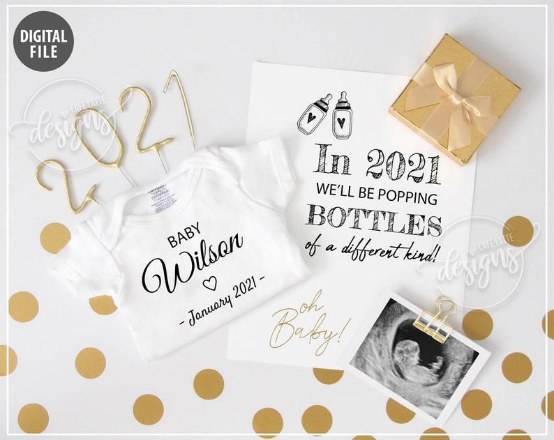 January 2021 Baby Announcement Digital Pregnancy Announcement image 0