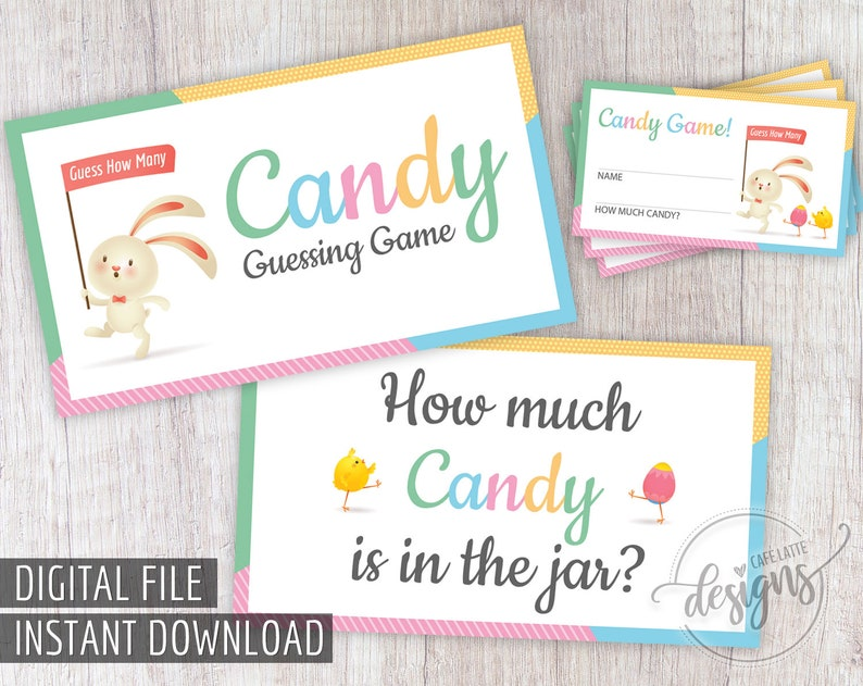 picture about Guess Printable Coupons known as Easter Sweet Guessing Recreation, Printable Easter Game titles, Easter Get together Printables, Wager How Substantially Sweet is within just the Jar, Kid Shower Sweet Video game, Do it yourself