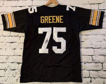dd2f70a8346 Mean Joe Greene Signed Autographed Pittsburgh Steelers Pro Style Football  Jersey - JSA COA