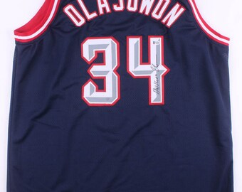 newest dfffc 7b073 Olajuwon jersey   Etsy