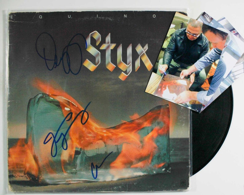 Styx Band Signed Autographed /'Equinox/' Record Album wSigning Photos