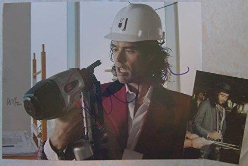 Russell Brand Signed Autographed Glossy 11x14 Photo w Proof Photo