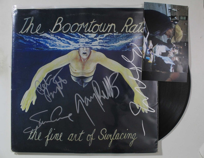 Boomtown Rats Band Signed AutographedThe Fine Art of Surfacing Record Album wProof Photos