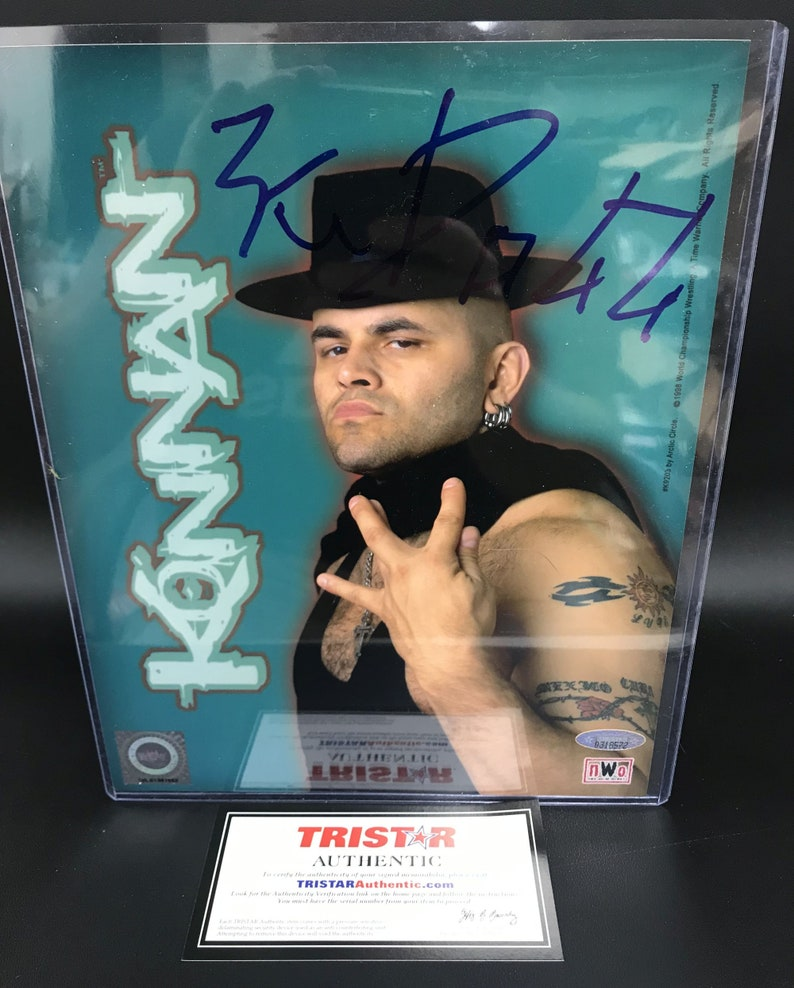 TriStar COA Konan Signed Autographed NWO Glossy 8x10 Photo