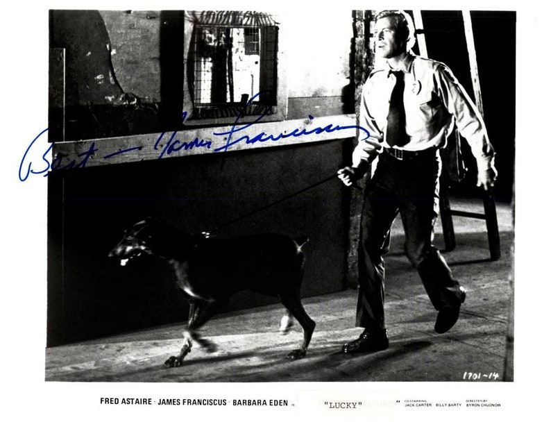 Signed Autographed Glossy 8x10 Photo James Franciscus d. 1991 COA Matching Holograms