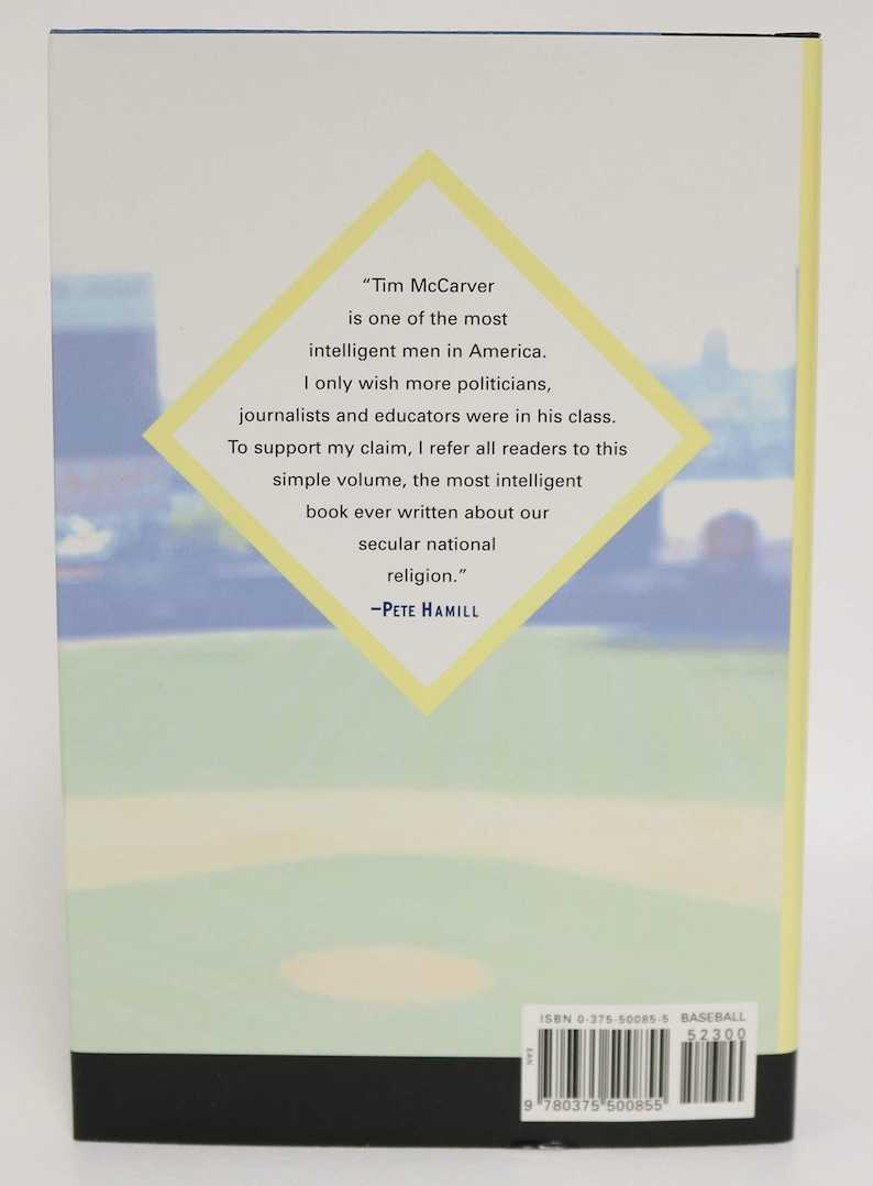 Signed Twice Tim McCarver Signed Autographed 1st Edition /'Baseball For Brain Surgeons/' HC Hard Cover Book