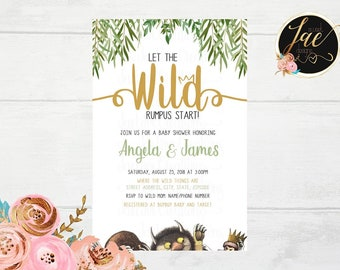 Where The Wild Things Are Baby Shower Etsy