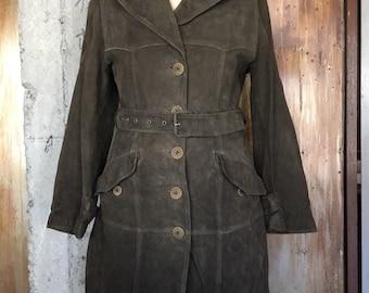 ec5ebe7f3ad99 Vintage Max Mara 1990s suede coat