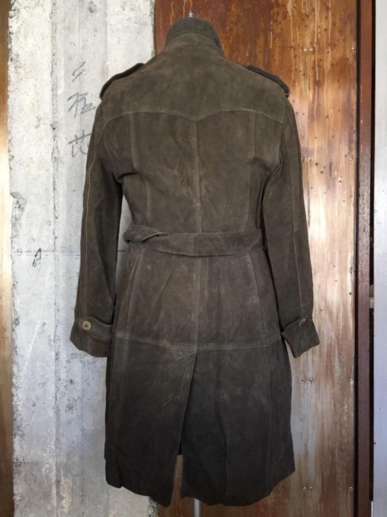 Vintage Max Mara 1990s suede coat