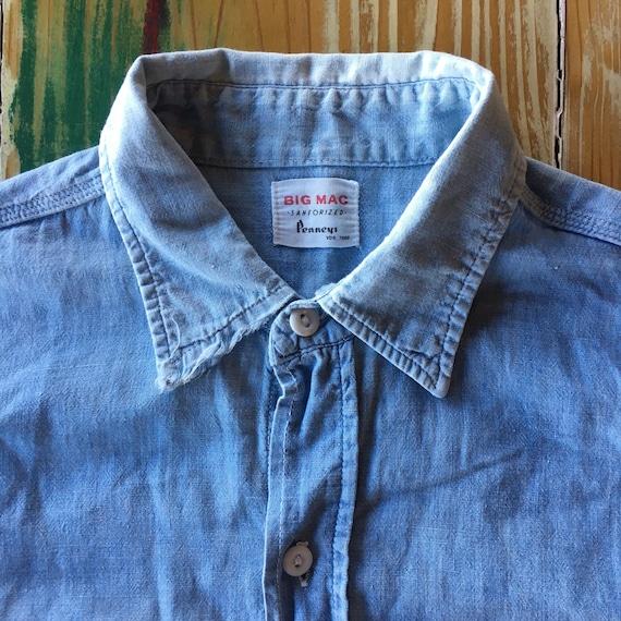 1960s Penneys BIG MAC chambray shirt medium vintag