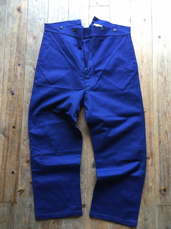 1930s French work trousers dead stock 39  inches w