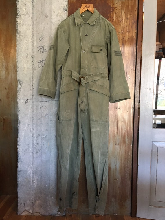 40s WW2 USAF mechanic M43 HBT coverall size small