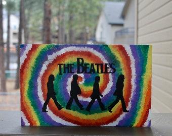 f759dc066fed The Beatles Tie Dye Wall Art