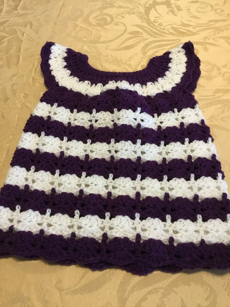 4a7a8572cccc Baby Girl Dress Crochet size 3 6 Months