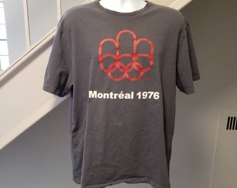 41b8c54906e 1976 Montreal Olympic Games Large T-Shirt