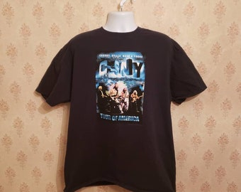 Stills and Nash 2015 Tour Tee Bleach Stripe Crosby