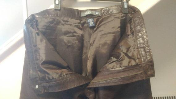 Pantalon Bootcut marron en cuir écart foncé marron Bootcut taille 36 6c8b50