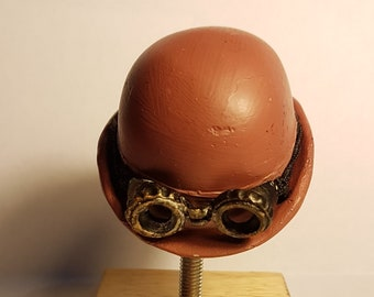 9a58f3732d005 Steampunk Bowler Hat and Goggles Ornament