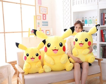Small and Big Pikachu Plushes Toys