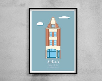 Architectural poster - Art Deco façade Years 20 - Illustration